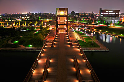 天門橋の北塔からの景色