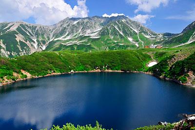 みくりが池と大汝山