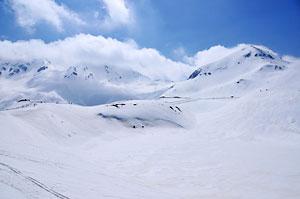 みくりが池の雪景色