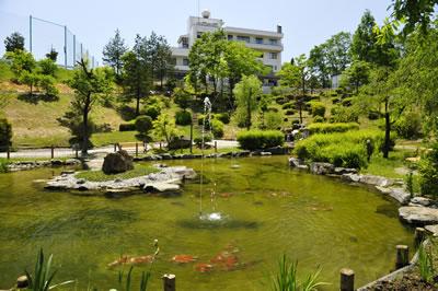 法輪閣の池